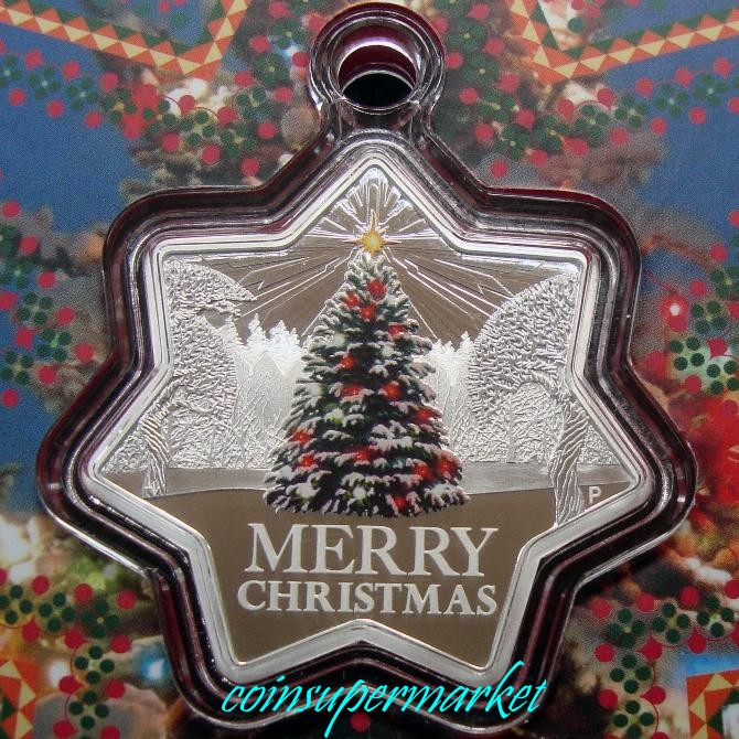 2015 Christmas 1oz Silver Star Shaped Coin Perth Mint Gift