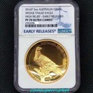 The Australian Wedge-tailed Eagle 2016 5oz Gold Proof High Relief Coin NGC PF70 ER Pop 3!