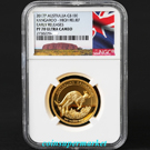 2017 Australia Kangaroo High Relief Proof 1oz Gold Coin NGC PF70 UC Early Releases