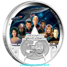 The Star Trek: The Next Generation Crew 30th Anniversary 2017 2oz Silver Proof Coin