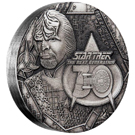 The Star Trek: The Next Generation Lieutenant Commander Worf 2017 2oz Silver Antiqued Coin
