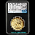 2017 American Liberty 225th Anniversary High Relief Proof Gold Coin NGC PF70