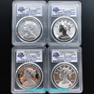 2017 American Liberty 225th Anniversary Silver 4-Medal Set PCGS 69 First Strike